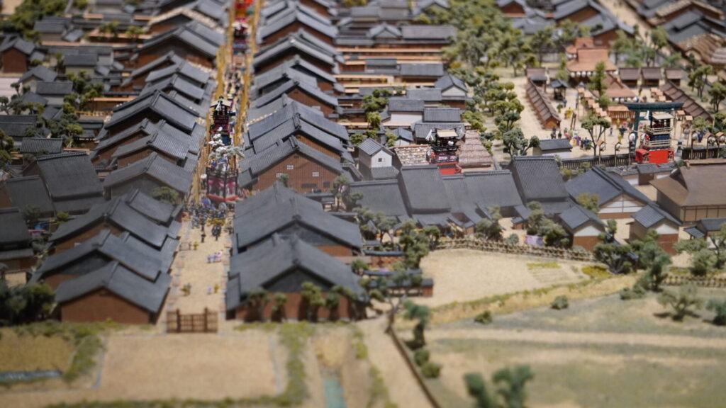 犬山城下町の模型