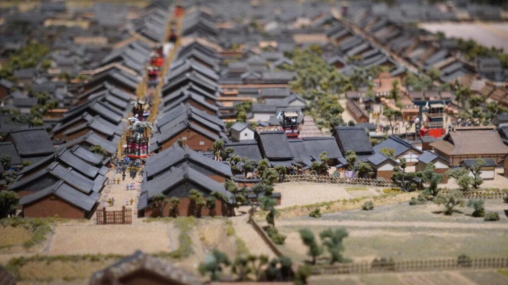 犬山城下町の模型3