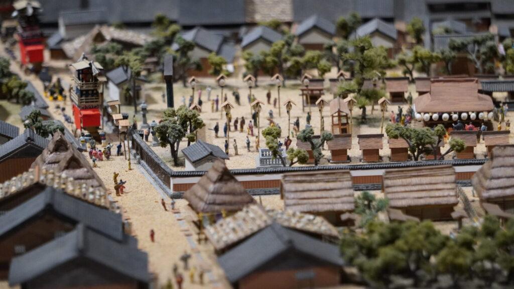 犬山城下町の模型2